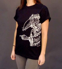 Rat Unisex Black T-Shirt
