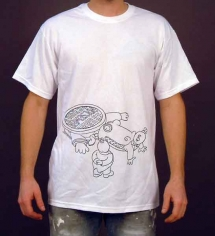 Alligator Low Unisex White T-Shirt