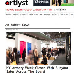 Artlyst: NY Armory Week Closes With Buoyant Sales Across The Board