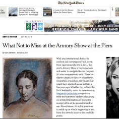 The New York Times: What Not to Miss at The Armory Show at the Piers
