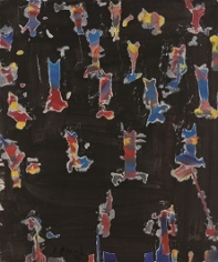 "Roger Pfund, Corps - Soljenitsyne, 1975, huile sur toile, signé ""Rfund 76"", 72 x 52,5 cm"