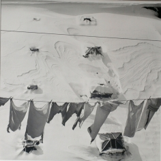 Jerome Liebling - Snow, Clothes, Roof, Brooklyn, New York