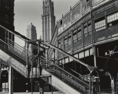 Brett Weston - Staircase and Buildings, New York,