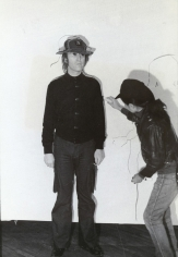 Fred W. McDarrah- Yoko Tracing Lennon at 8th Avant-Garde Festival