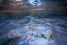 Michael Melford- Boulders Edge the Dead Sea