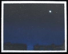 BRIAN BORRELLO Night Sky with Full Moon, 2003