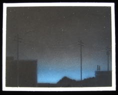 BRIAN BORRELLO Night Sky with Antenna, 2003