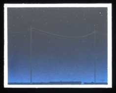 BRIAN BORRELLO Night Sky with Powerlines, 2003