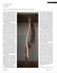 "THE Magazine Reviews ""Fictitious Fiber"" Curated by Jane Sauer"