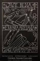 Jose Bedia Show Announcement Poster