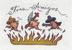 Enrique Chagoya 'Untitled (temporary tattoo)', 2012
