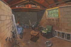 Andrew Lenaghan Green Chair in the Garage, 2003