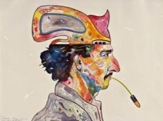 Luis Cruz Azaceta, 'Self Portrait: Spitting Bullets,' 1980