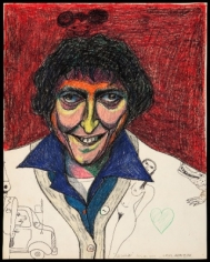 Luis Cruz Azaceta 'Self Portrait Smiling,' 1977
