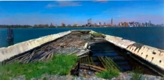 Andrew Lenaghan View of Manhattan from the North 6th St. Pier, Williamsburg