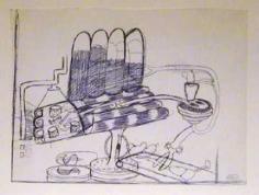 Peter Saul Untitled (Barbara Rose), c. 1963