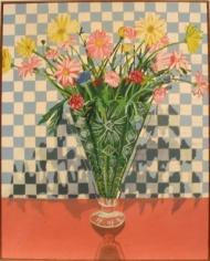 Joan Brown Crystal Vase, 1971