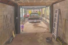 """Andrew Lenaghan Sarah in the Garage Door, """"The Runaway Bunny,"""" 2003"""