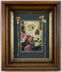 Charles Marsh Skull with Flowers, c. 1990