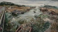 Amer Kobaslija, 'Kesen River From the Imaizumi Highway, June 11,' 2011