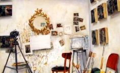 Amer Kobaslija Wall, Mirror and Self Portrait as a Five Year Old, 2005