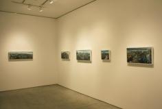 Installation view, Amer Kobaslija, One Hundred Views of Kesennuma: Paintings of Japan's Altered Landscape, George Adams Gallery, New York, 2012.