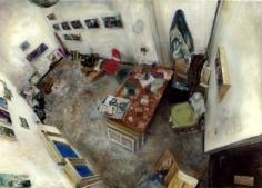 Amer Kobaslija Artist in His Studio, 2004