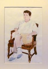 Fairfield Porter, Portrait of James Schuyler ('Study for Iced Coffee'), 1966