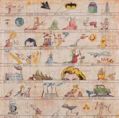 Enrique Chagoya, Codex Finalis Cronos, 2013