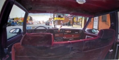 Andrew Lenaghan Interior of Caprice on Coney Island Avenue with Self Portrait, 2003