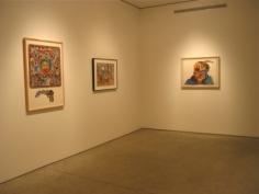 Installation view, Luis Cruz Azaceta, 'Self Portraits, Watercolors and Drawings 1977-1981,' George Adams Gallery, New York, 2011.