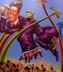 Peter Saul Ronald Reagan in Grenada