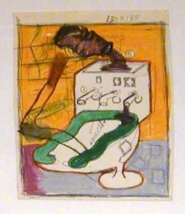 Peter Saul Untitled (Toilet Study), c. 1961