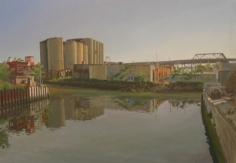 Andrew Lenaghan, 'Gowanus Cement Towers from the 3rd Street Bridge,' 2006