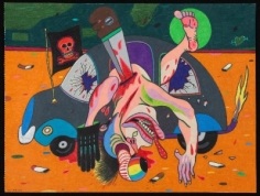 Luis Cruz Azaceta 'Killed and Robbed a Golden Tooth and His Credit Card,' 1978