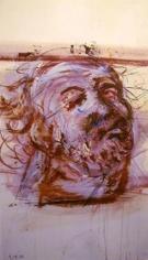 Robert Arneson Study of Man With Board on Head