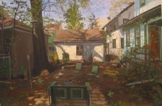 Andrew Lenaghan Backyard Towards Jill's House, 2003