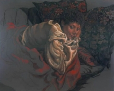 Jack Beal Portrait with Pillows #2
