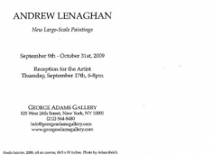 Andrew Lenaghan Show Announcement Card