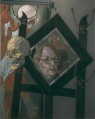 Jack Beal Self -Portrait with Skull