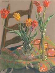 Jack Beal Still Life with Tulips