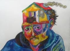 Luis Cruz Azaceta 'Self Portrait of Throwing the Devil Out,' 1981