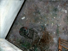 Amer Kobaslija Painter's Floor with Chair and Ladder, 2005