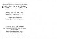 Luis Cruz Azaceta exhibition announcement card 2011 (back)