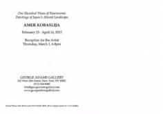 Amer Kobaslija exhibition announcement card 2012 (back)
