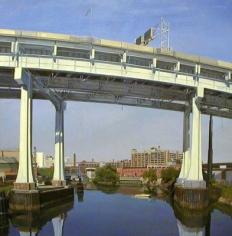 Andrew Lenaghan, 'LIE Overpass from Borden Ave,' 1999