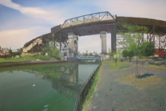 Andrew Lenaghan F-Train over the Gowanus Canal, 2009