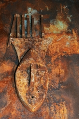 Rusted African Mask
