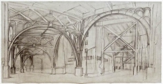 12TH AVENUE AT 134TH STREET, 2003, Graphite on grey/tan paper