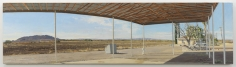 Farm Buildings Near the Rio Grande: Under the Barn Roof, A.M., 2008, Oil on canvas